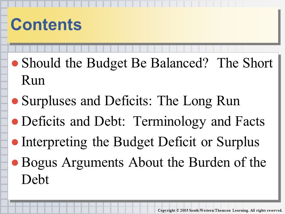 budgeting budget balanced budget deficits and Budgeting - download as pdf cyclically adjusted budget deficit in government transfers that would be necessary to achieve generational balance.