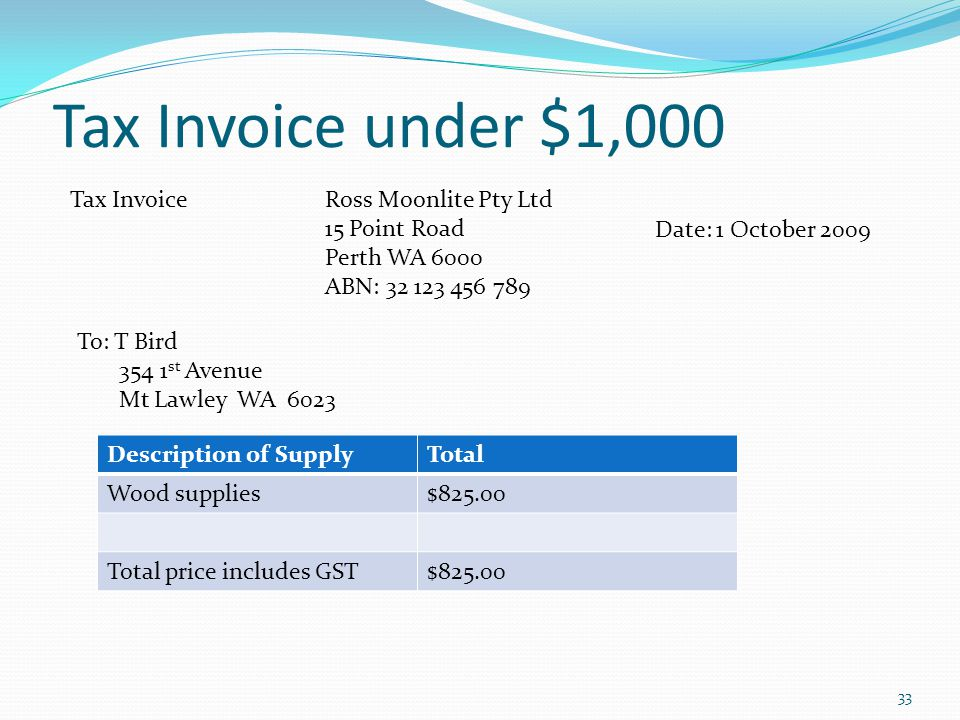 Understanding Gst & Tax Invoicestax Invoice Without Abn. The Tax