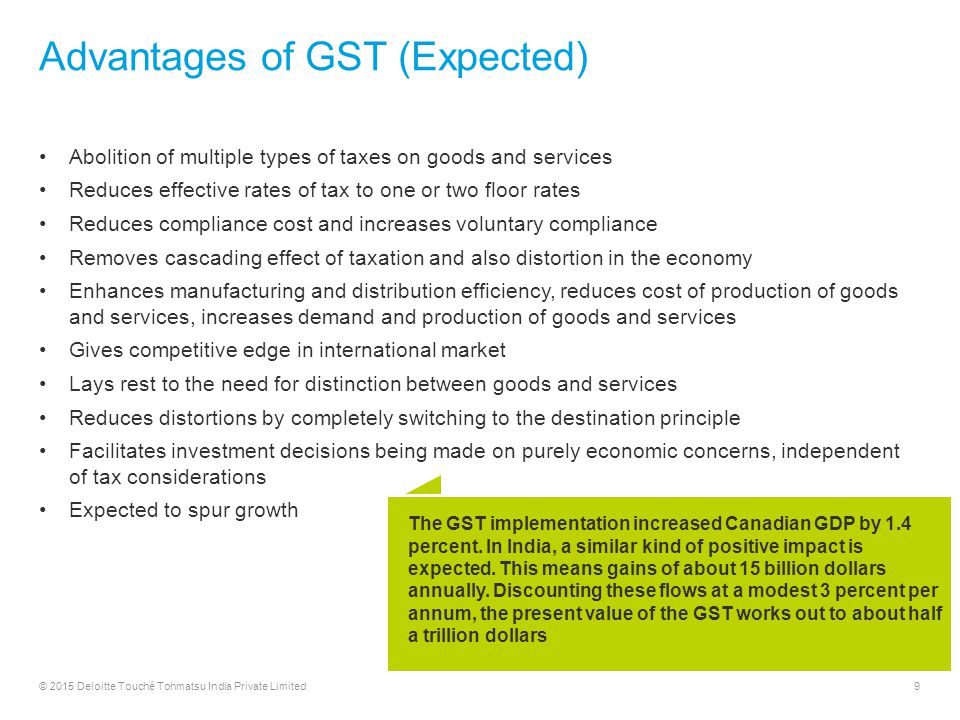 advantages of gst on indian economy pdf