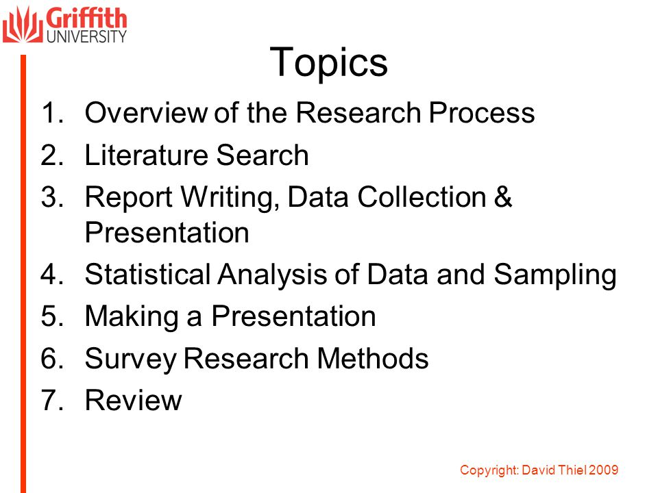 report writing and presentation of data in research methodology