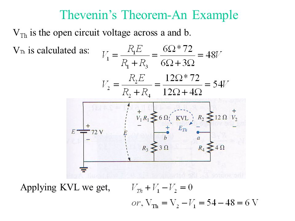Electrical Systems 100 Lecture 3 (Network Theorems) Dr ...