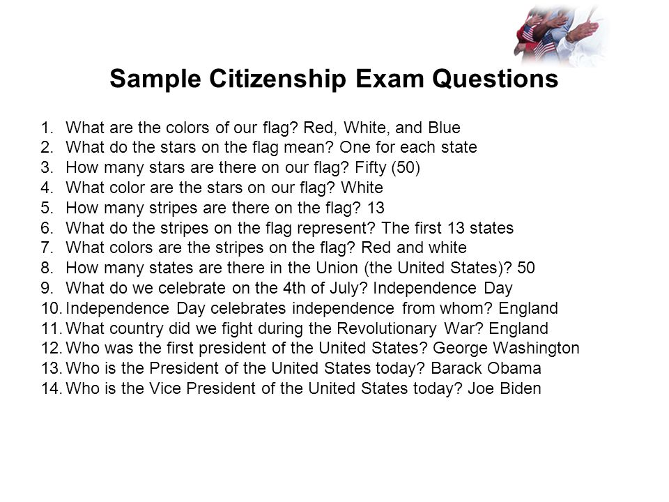 Us citizenship naturalization ppt video online download sample citizenship exam questions yadclub Image collections