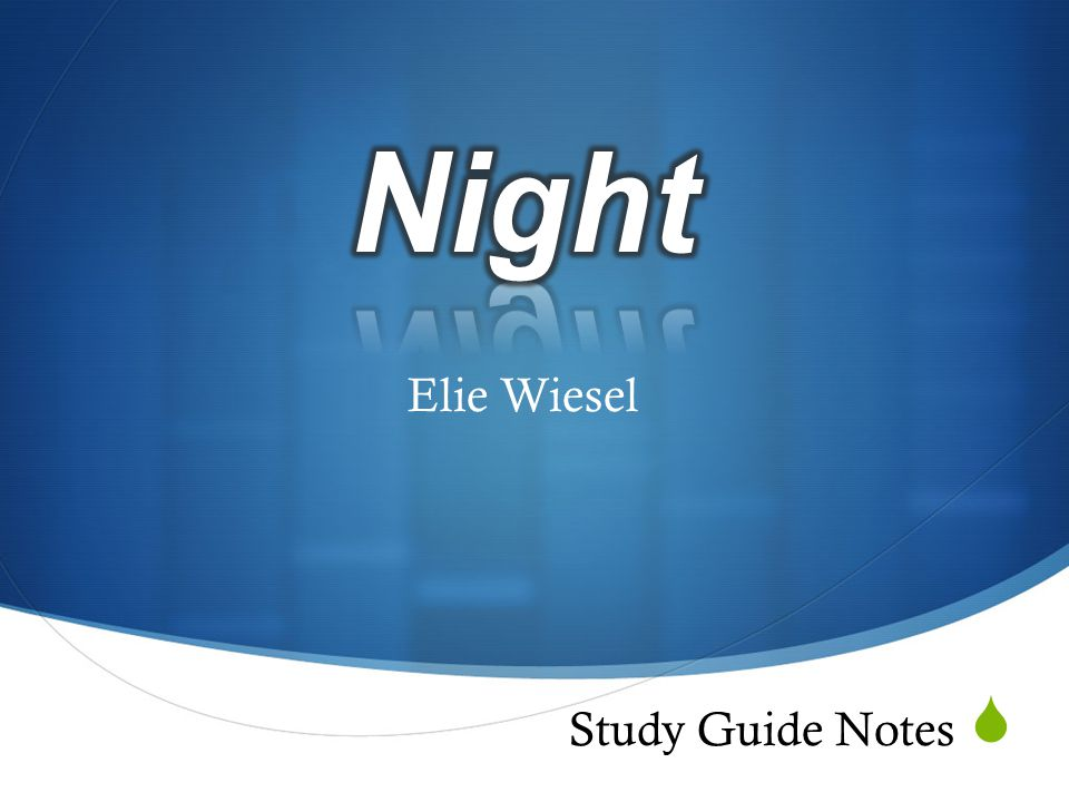 an analysis of the theme of holocaust in night a novel by elie wiesel Free study guide-night by elie wiesel-themes-theme analysis-free book notes/chapter summary/plot synopsis-literature study guides,downloadable texts.