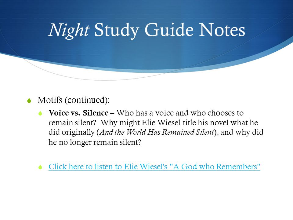 night study guide A teacher's guide to the signet classic edition of william shakespeare's twelfth night by robert small, radford university introduction twelfth night or what you will is an interesting blend of the sadness of separation between brother and sister, romance as.