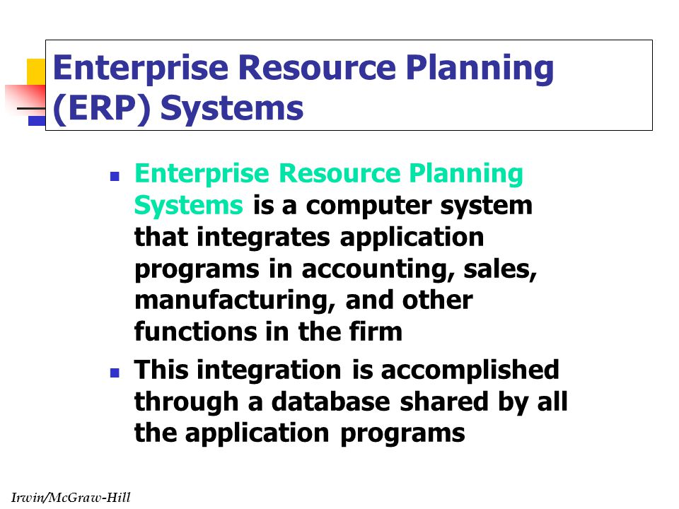 enterprise resource system What is erp erp is an acronym for enterprise resource planning an erp system automates and integrates core business processes learn more about erp here.