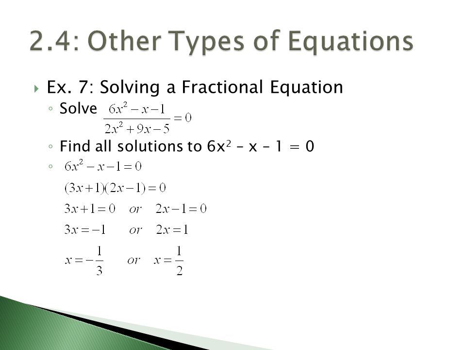 2.4: Other Types of Equations