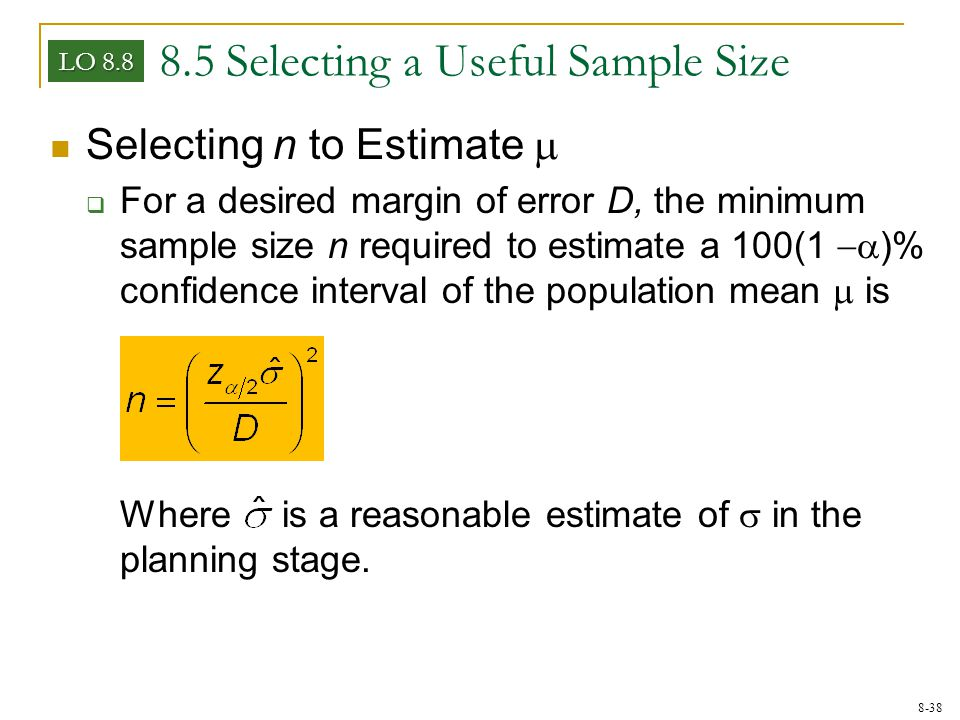 1if selecting samples of size n The central limit theorem suppose that a sample of size nis selected from a population that has mean and standard the sample size nhas to be large (usually n 30.