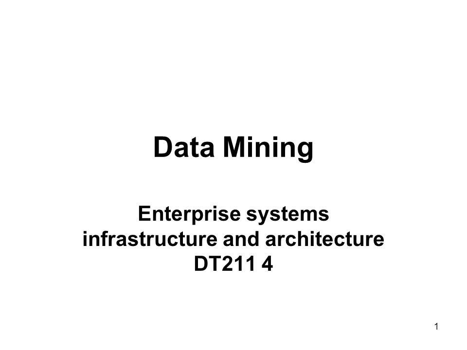 Enterprise systems infrastructure and architecture DT211 4