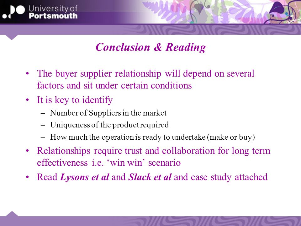 Assessing Buyer-Supplier Relationship Management: Multiple ...