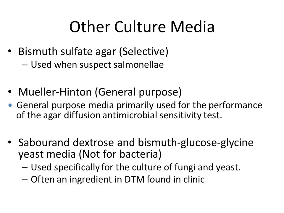 alternative culture medium for fungi essay Bact/alert culture media offers an ideal environment for recovering an array of microorganisms, including bacteria, fungi, and mycobacteria request more information from biomérieux today.