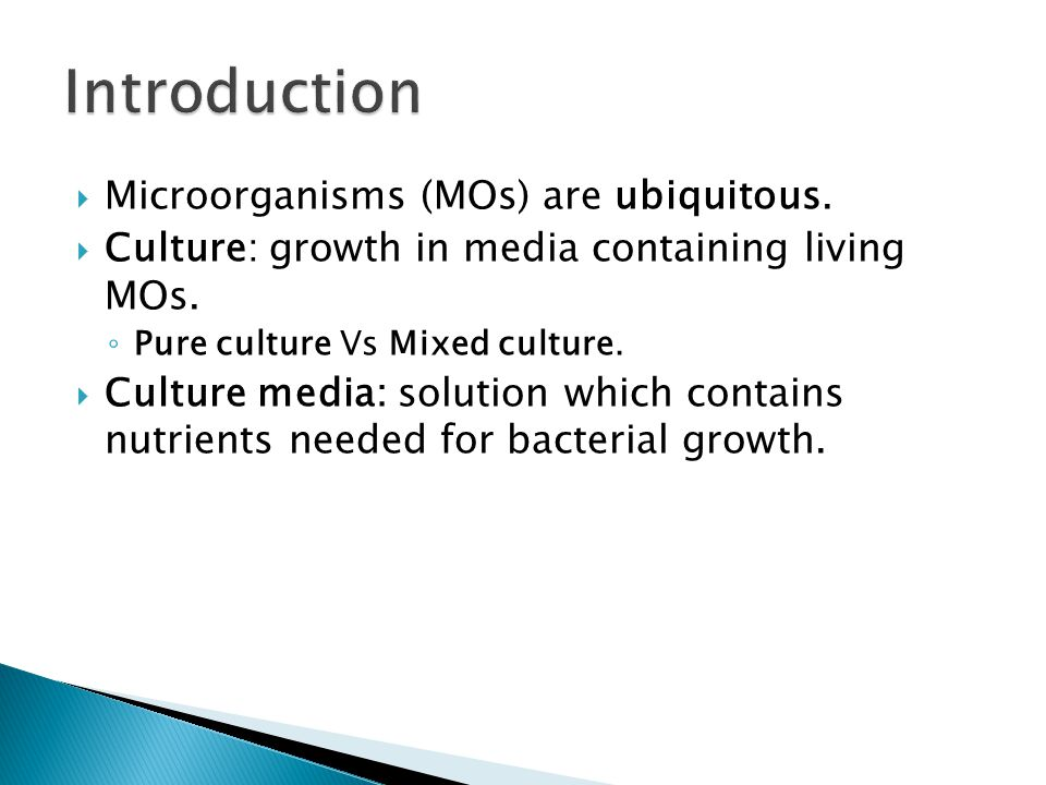 Introduction Microorganisms (MOs) are ubiquitous.