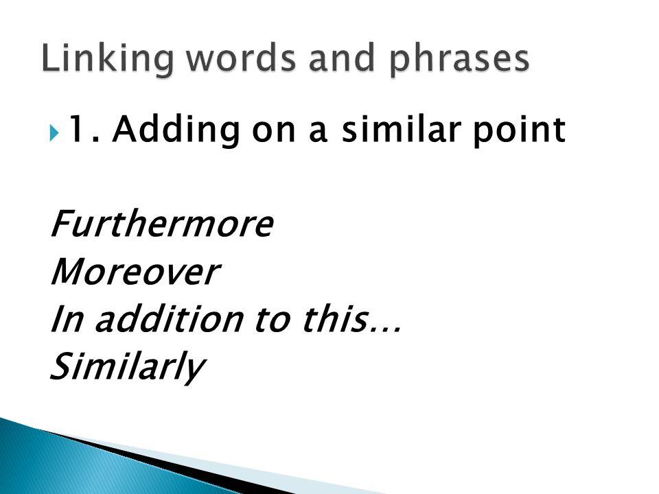 linking words essay