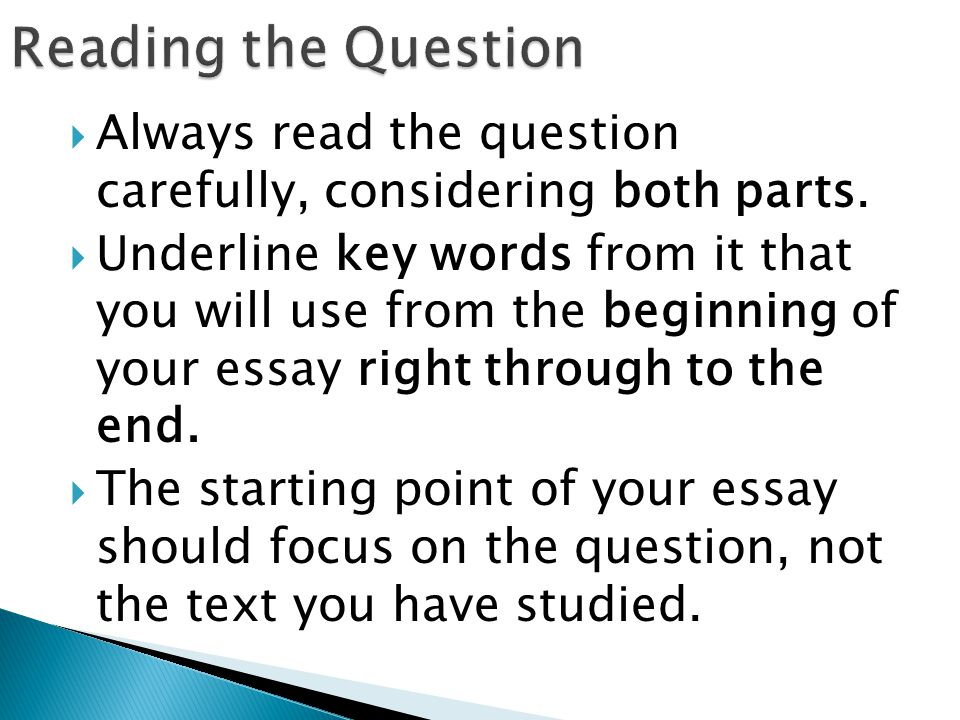 end essay with question
