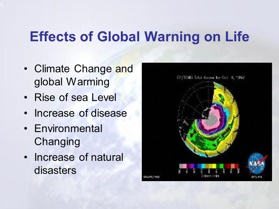 Effects of Global Warning on Life