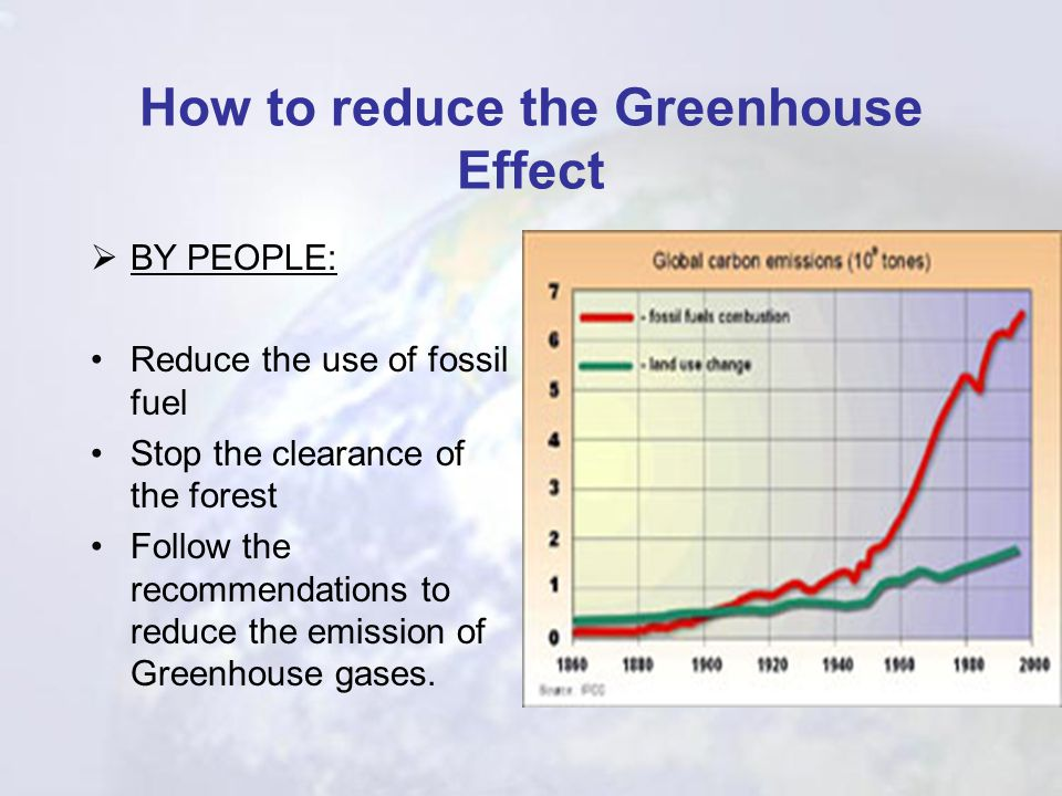 How to reduce the Greenhouse Effect