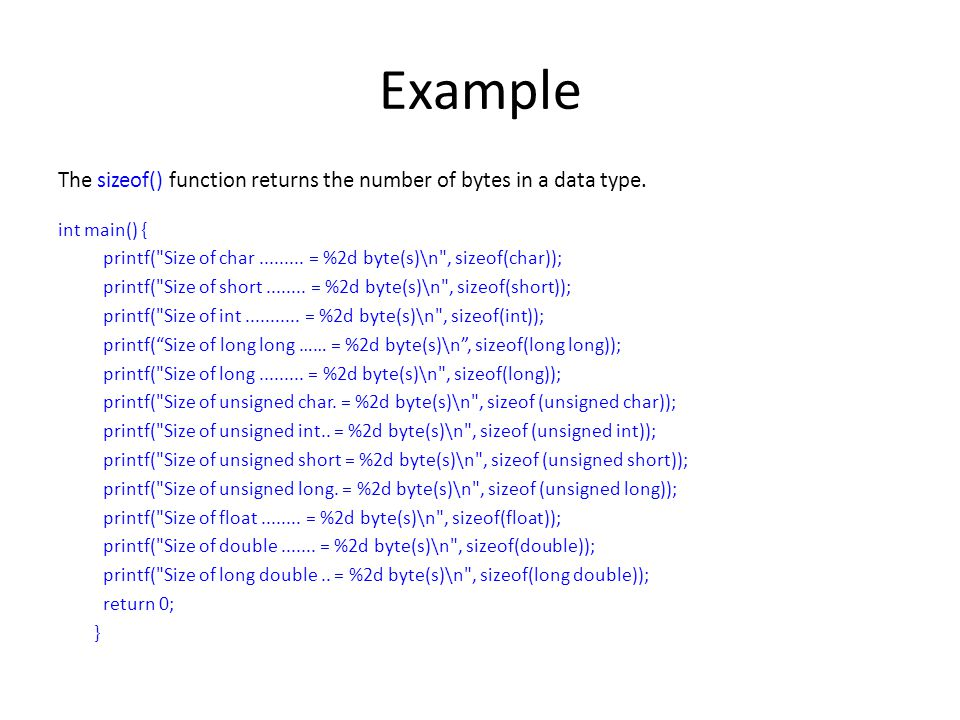 Variables, Data Types and I/O in C - ppt download