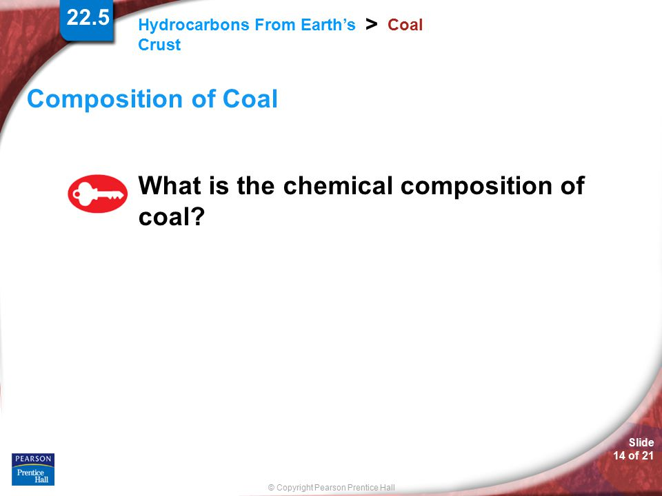 What is the chemical composition of coal