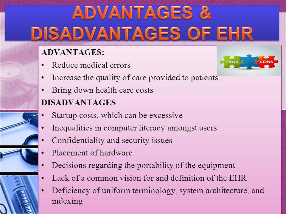 Advantages Disadvantages Electronic Record Systems