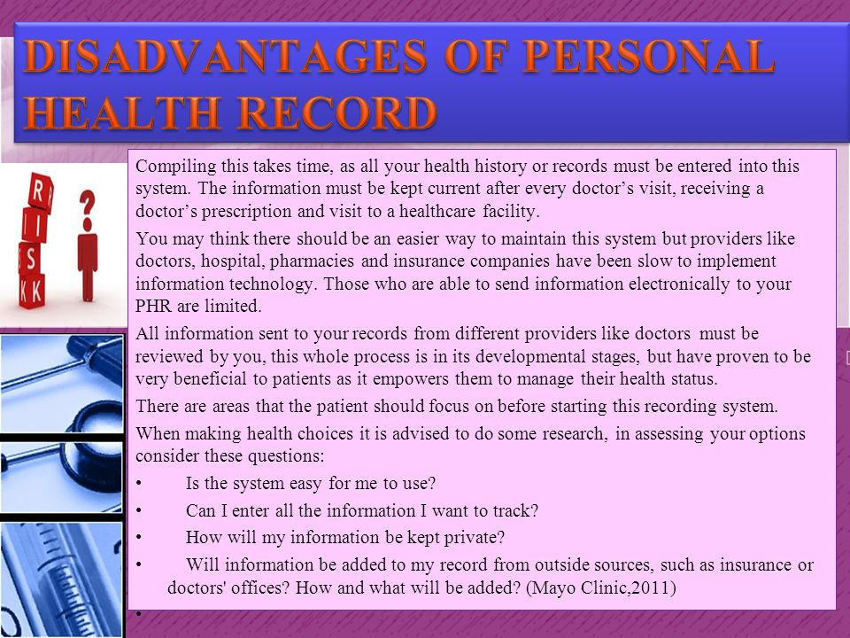Electronic Health Record Ppt Download