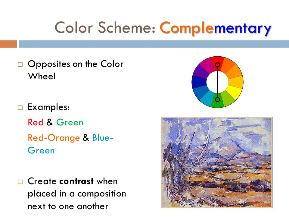 Examples Of Color Schemes color schemes & psychology - ppt video online download