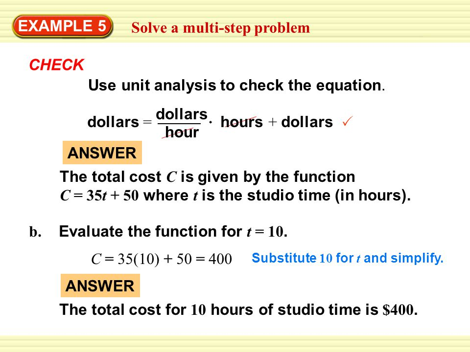 Example 5 solve a multi step problem recording studio ppt video 4 solve ccuart Image collections