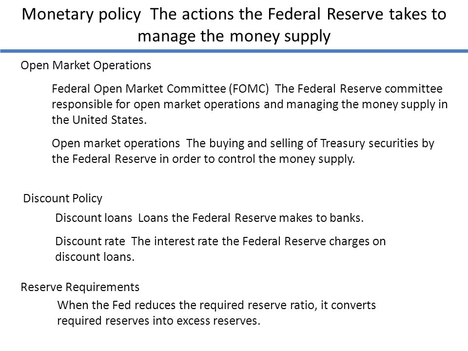 monetary policy and federal open market committee in the united states The federal reserve system and monetary policy  the first bank of the united states was established in 1791  the federal open market committee,.