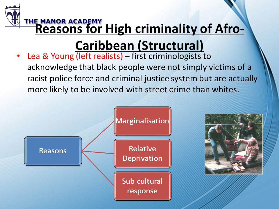 Unit 4 crime and deviance ppt video online download reasons for high criminality of afro caribbean structural publicscrutiny Gallery