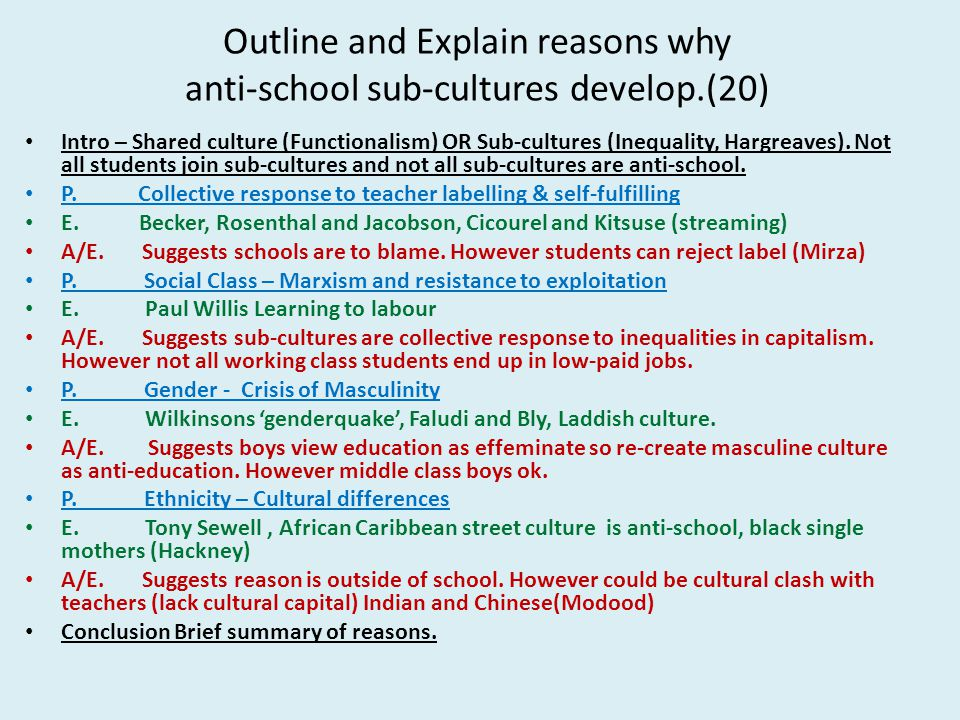 Outline and assess cultural explanations for