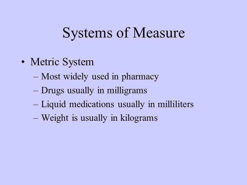 Introduction to the metric system the most used system of measurement in the world used by everyone