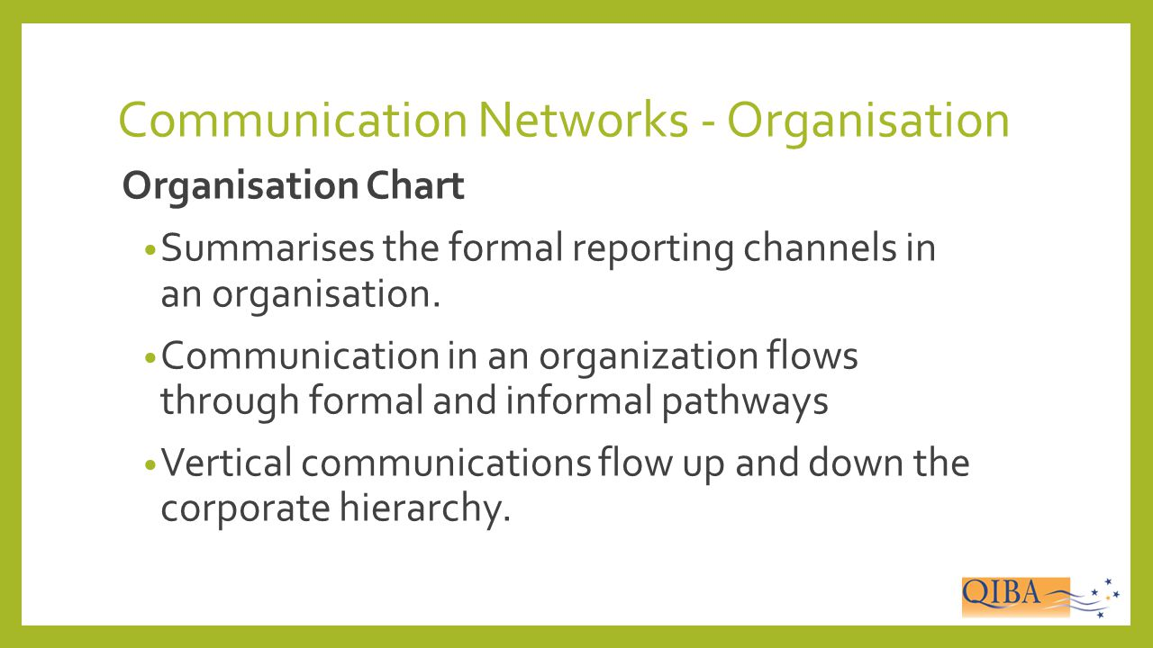 Communication Networks - Organisation