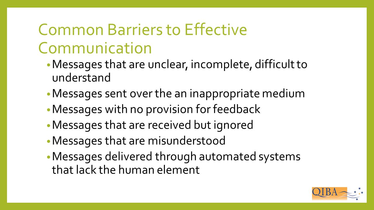 Common Barriers to Effective Communication
