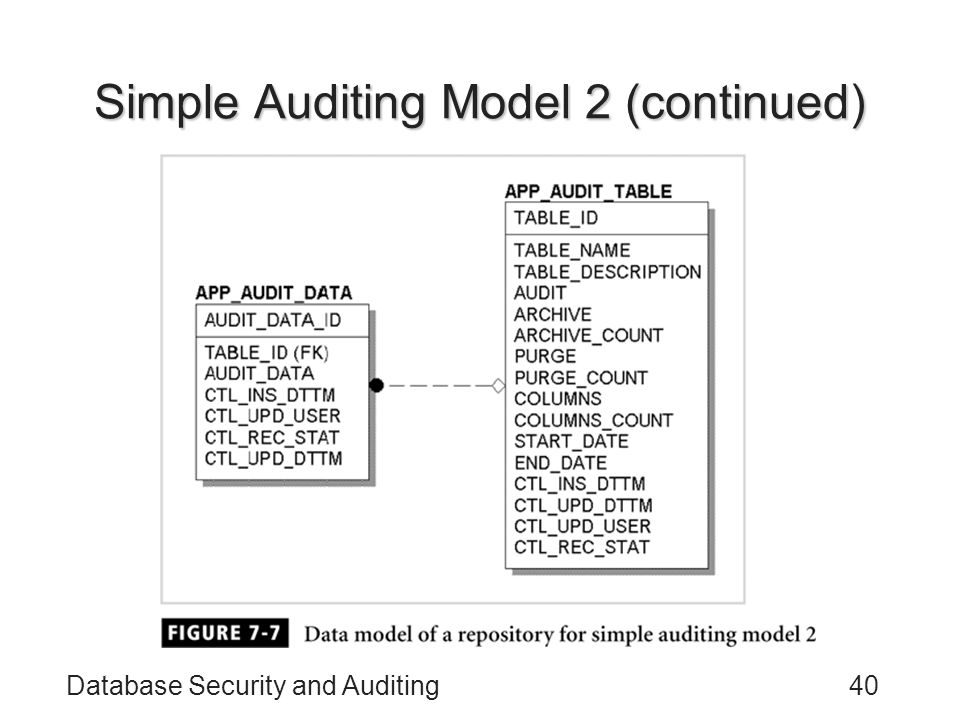 Simple Auditing Model 2 (continued)