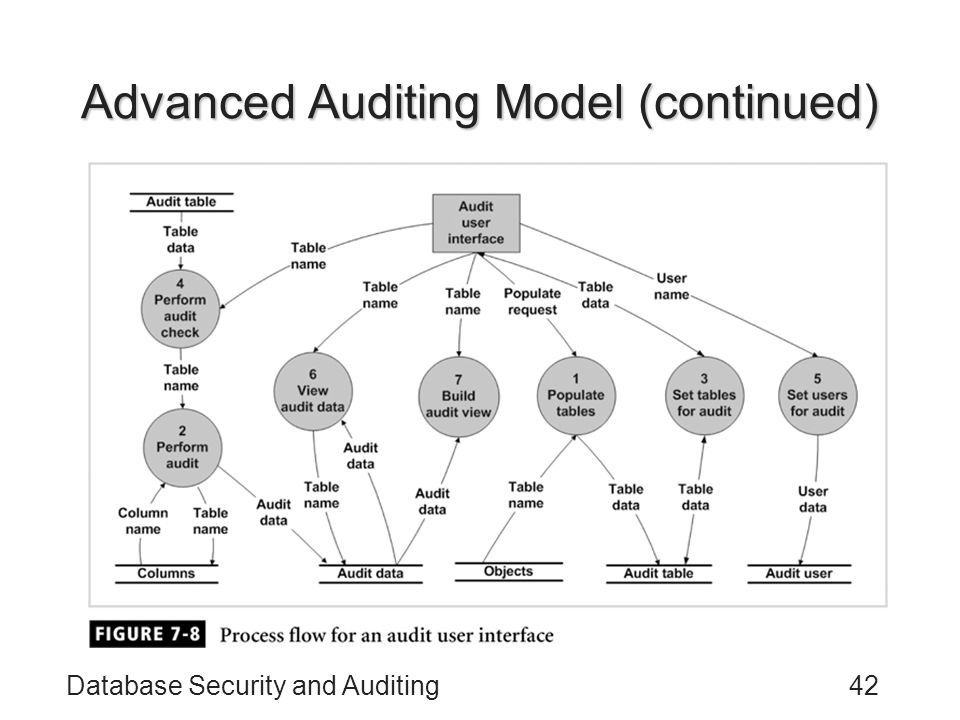 Advanced Auditing Model (continued)