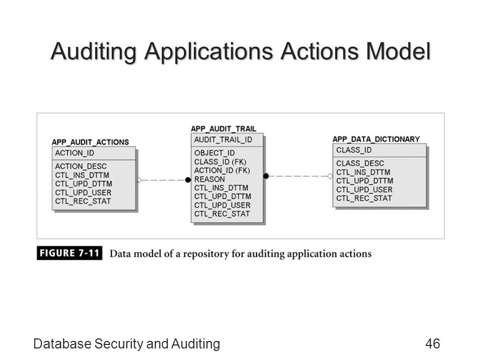 Auditing Applications Actions Model