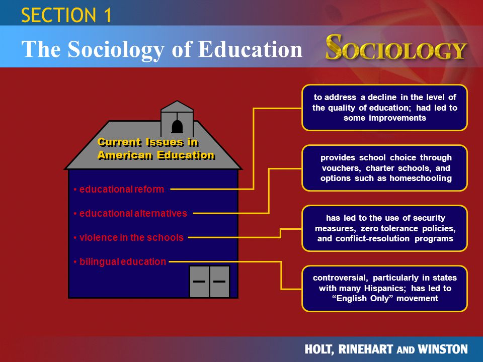 sociology of education Historically, american education served both political and economic needs, which dictated the function of education today, sociologists and educators debate the function of education three main theories represent their views: the functionalist theory, the conflict theory, and the symbolic interactionist theory.