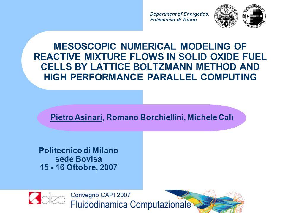 Politecnico di Milano sede Bovisa 15 - 16 Ottobre, 2007