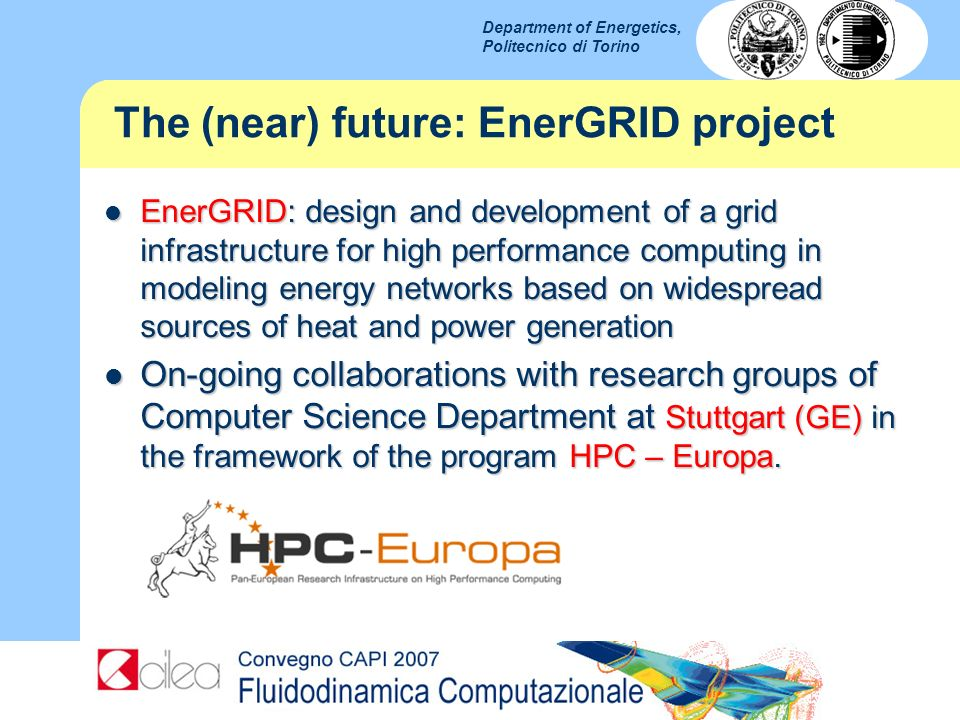 The (near) future: EnerGRID project