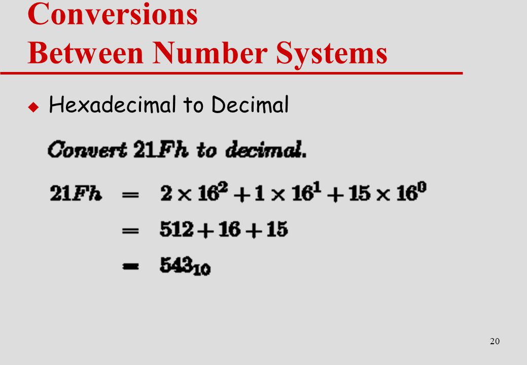Conversions Between Number Systems