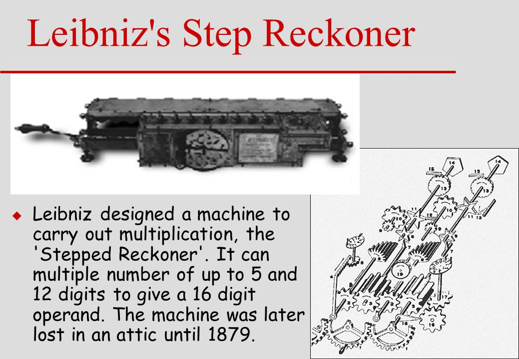 Leibniz s Step Reckoner