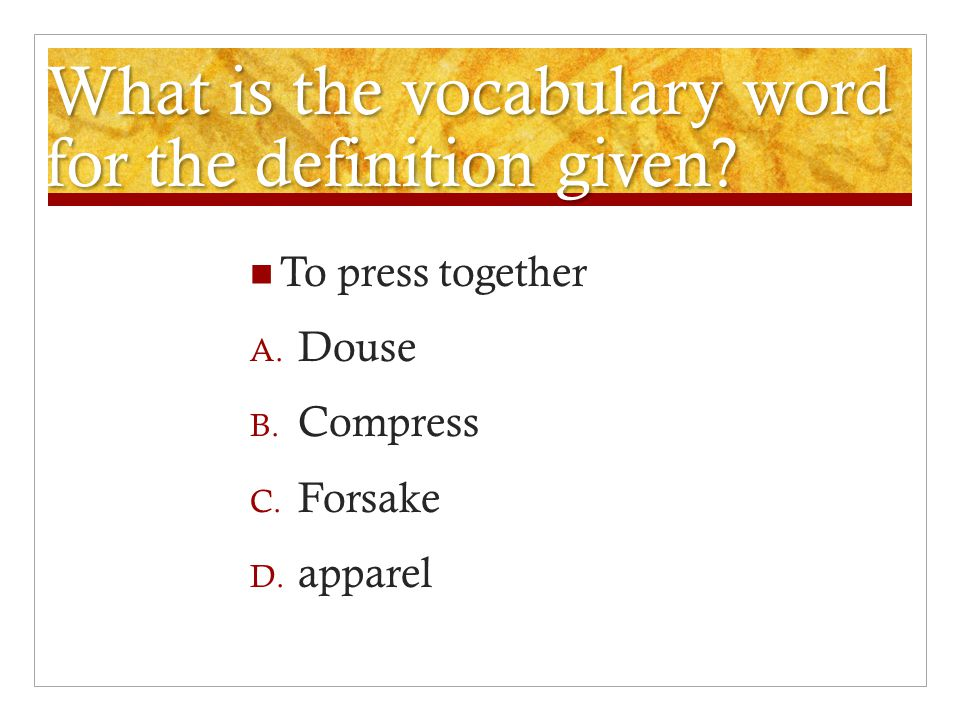 Captivating What Is The Vocabulary Word For The Definition Given