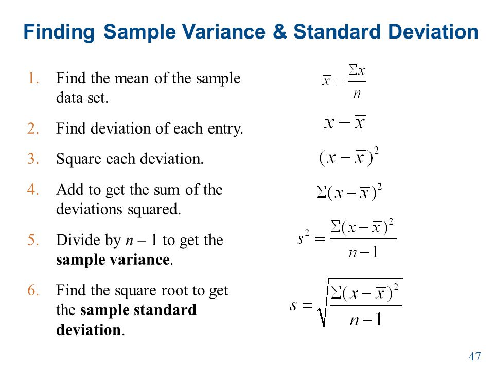 Sample Variance Means