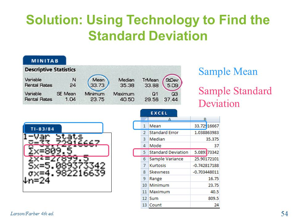 how to find statistical significance using mean and standard deviation