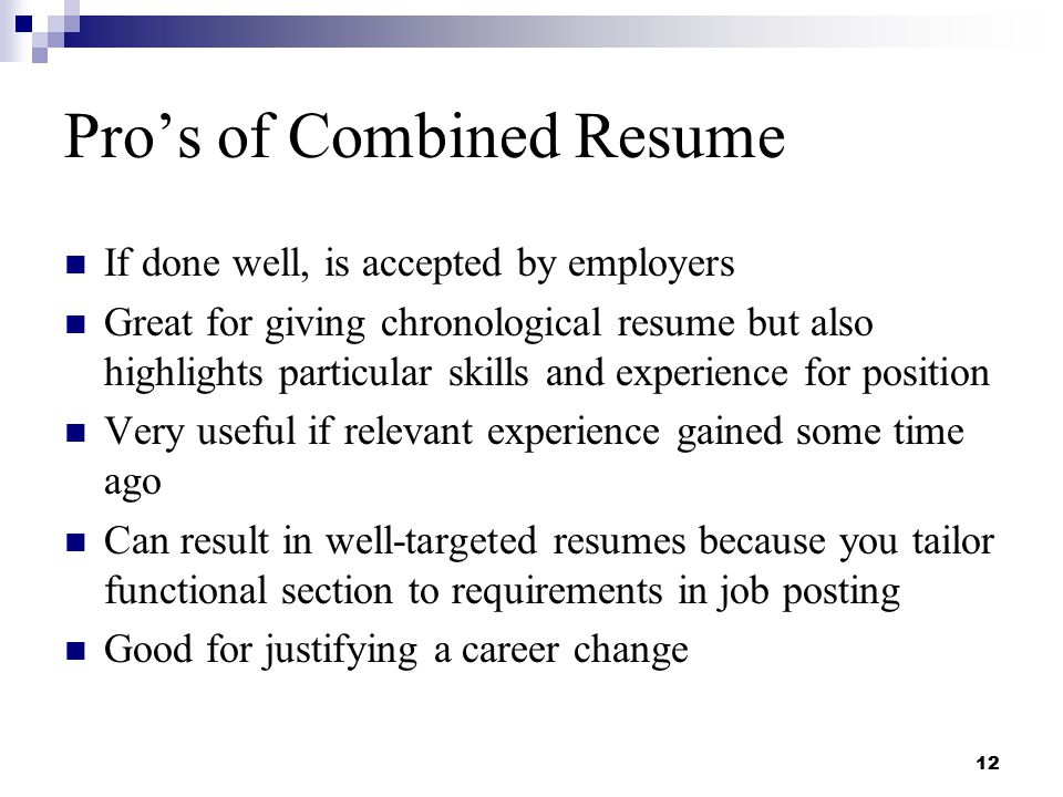 combined resumes