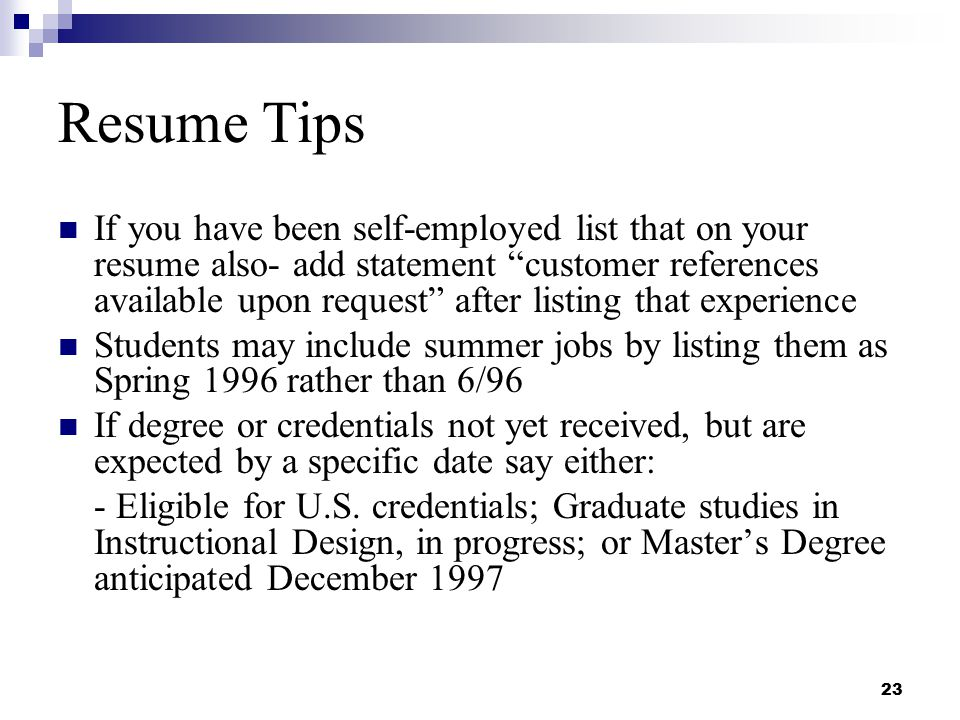 resume writing and interviewing skills