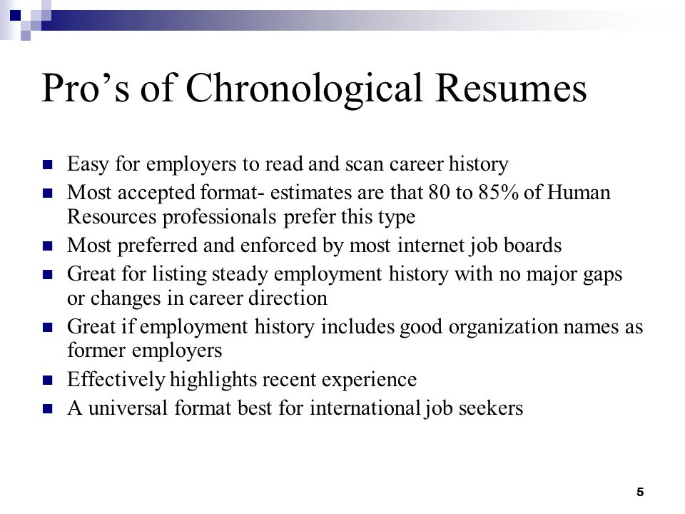 job history on resumes