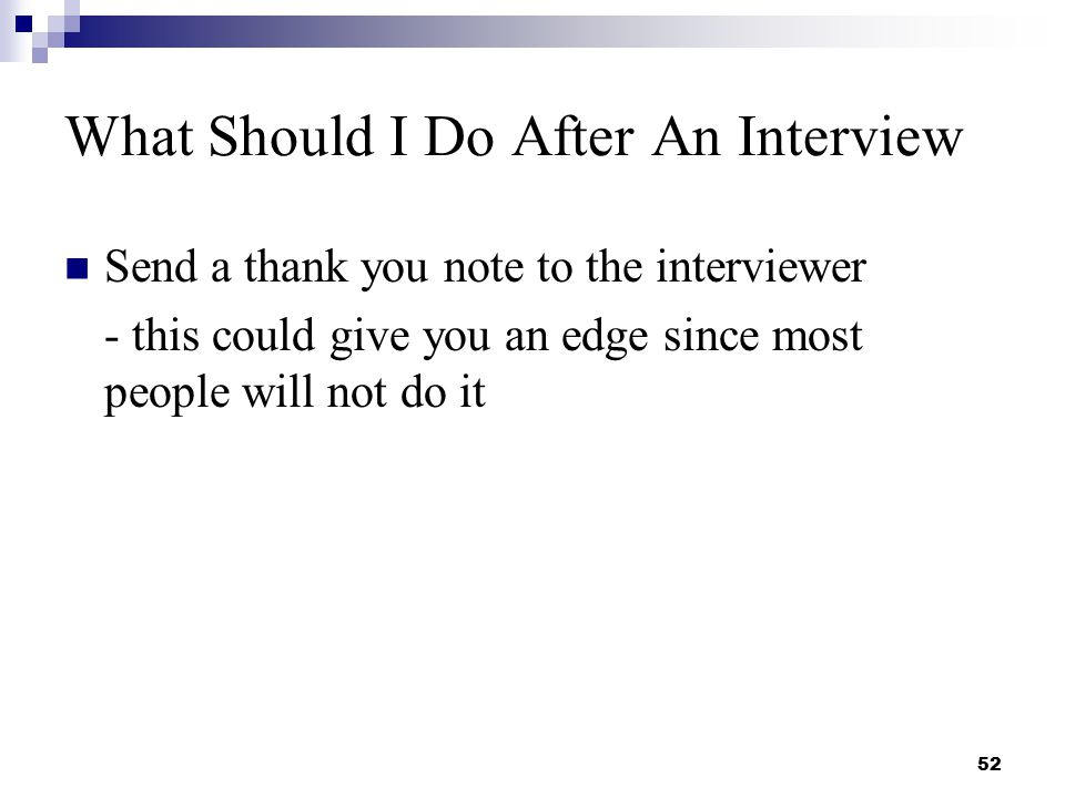 Should I Send a Thank You Card After a Job Interview?