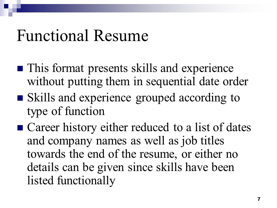 functional resume this format presents skills and experience without putting them in sequential date order - Skills To Have On A Resume