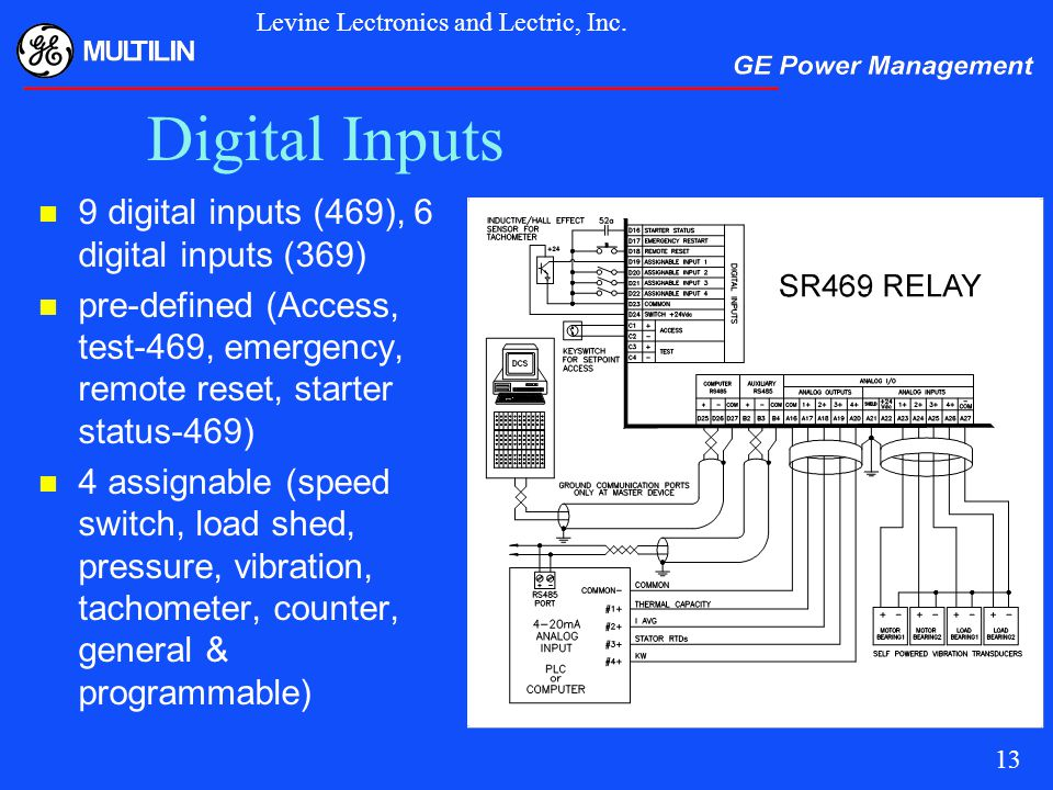 Digital+Inputs+9+digital+inputs+%28469%29%2C+6+digital+inputs+%28369%29 motor protection for this millennium ppt video online download ge multilin 469 wiring diagram at alyssarenee.co