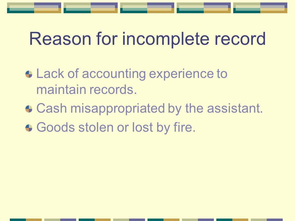 incomplete records Normal 0 false false false en-us x-none x-none chasing down information on incomplete records can be overwhelming and a lost cause.