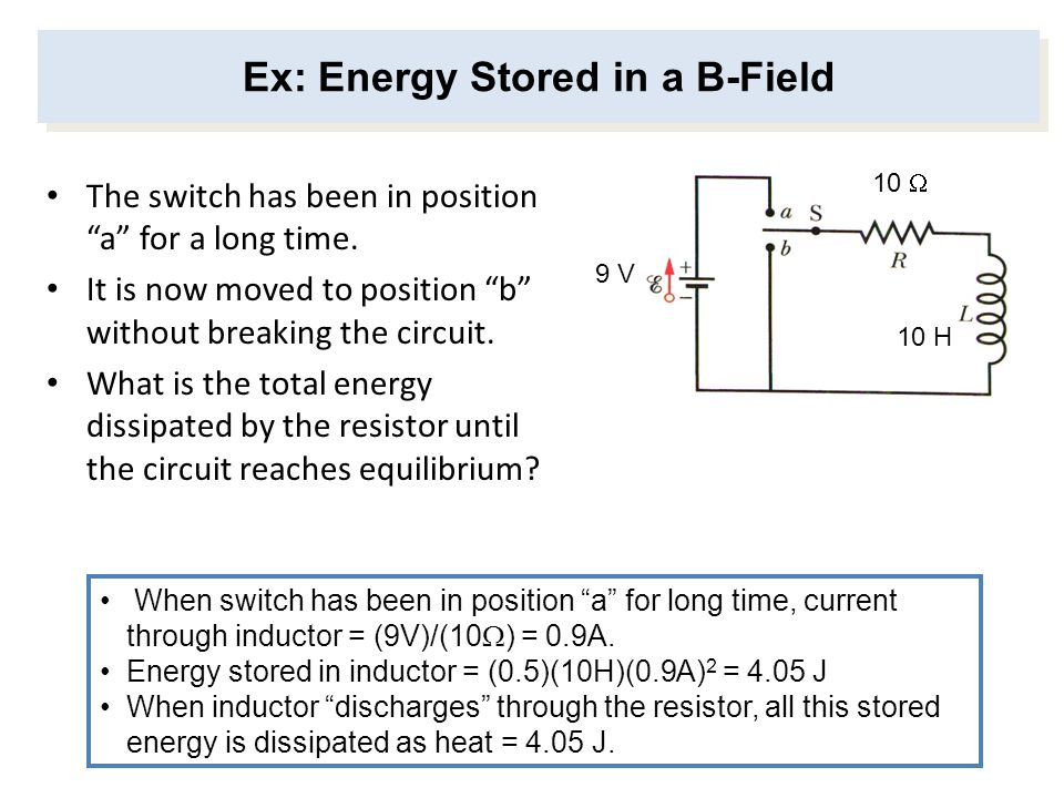 Ex: Energy Stored in a B-Field